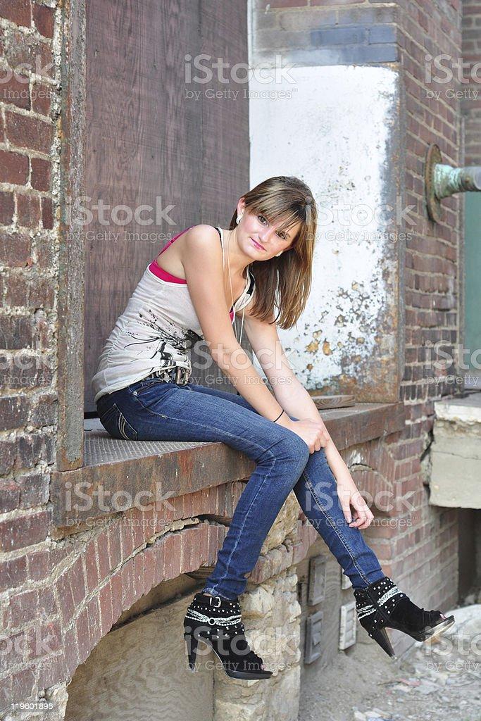 Playful Teenage Girl stock photo