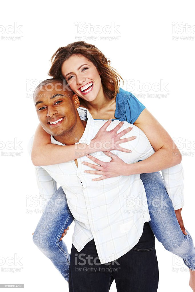 Playful Young Couple - Isolated royalty-free stock photo
