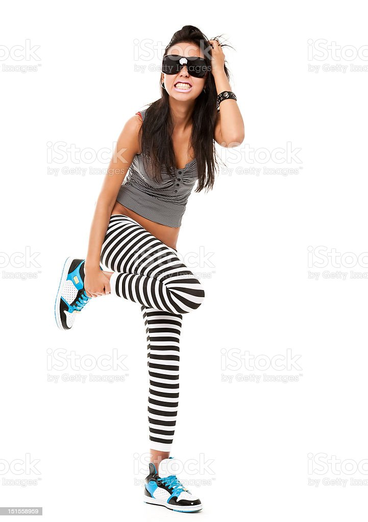 playful young woman stock photo