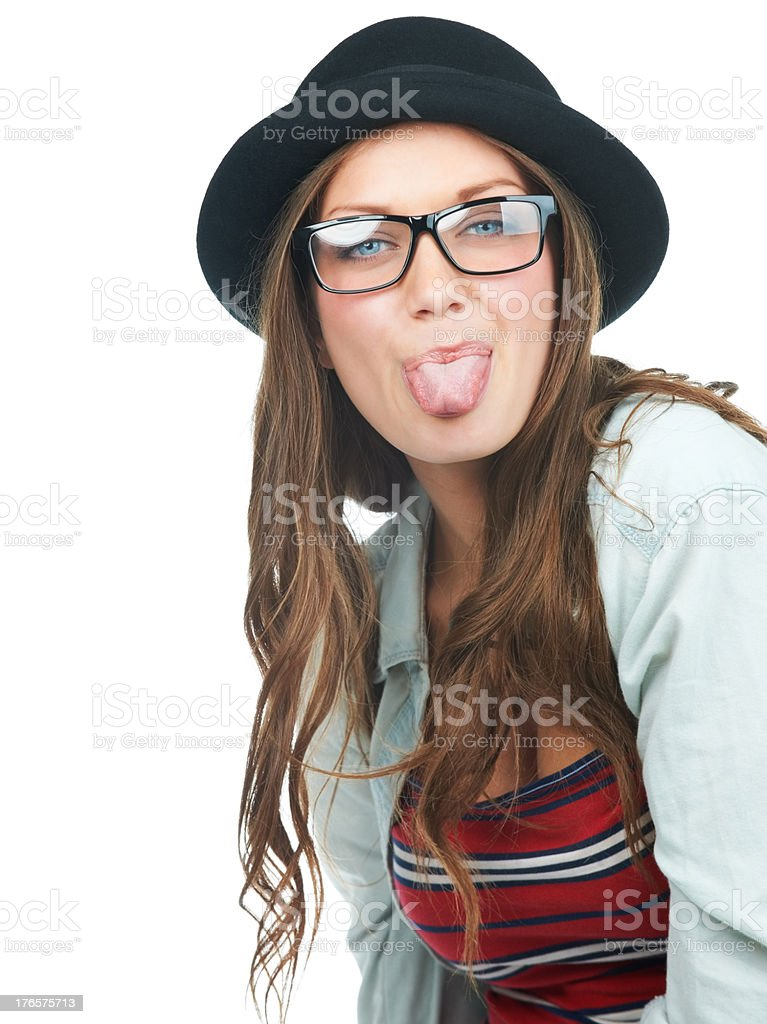 Playfully expressive stock photo