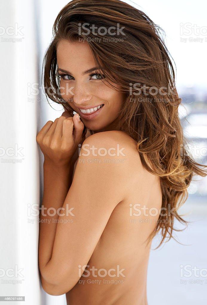 Playfully sexy stock photo