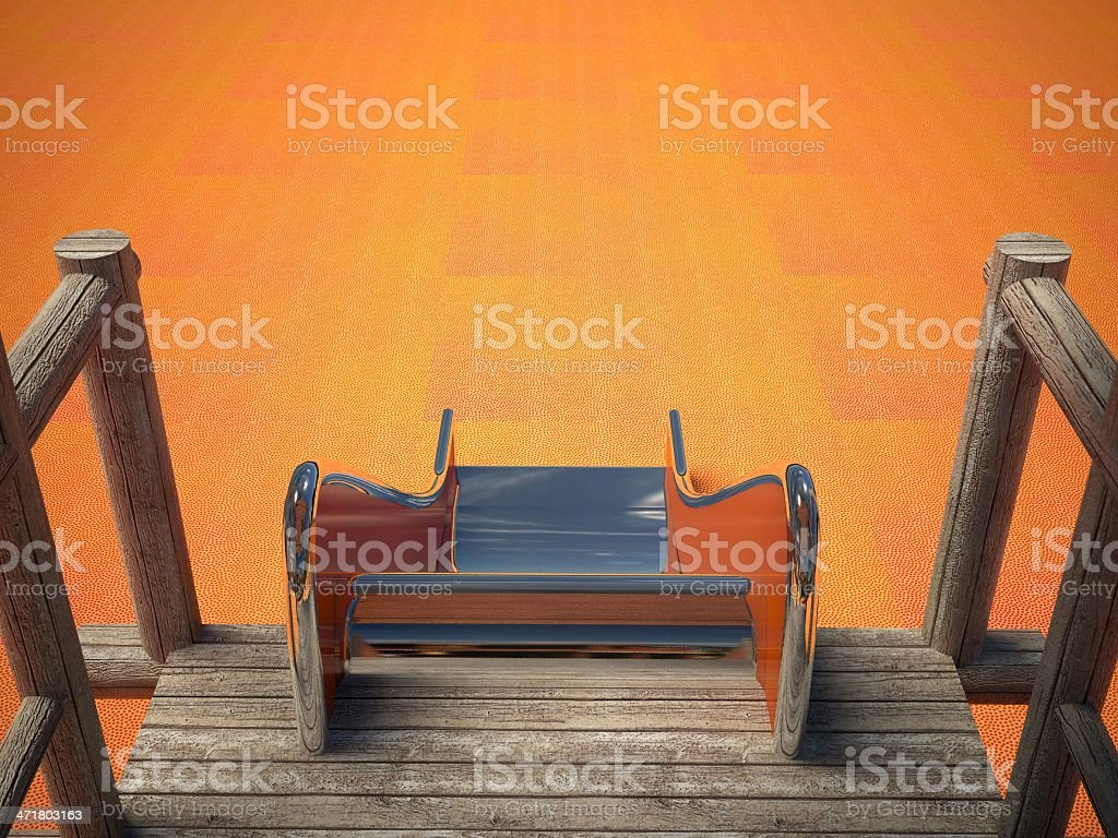 Playground and slide without children royalty-free stock photo
