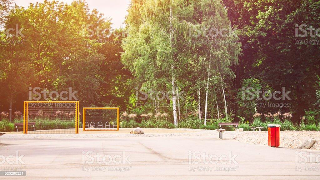 Playground at Treptower Park Berlin . stock photo