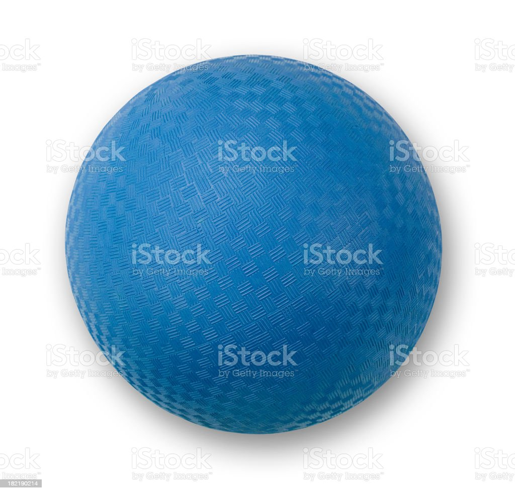 Playground Ball Blue stock photo