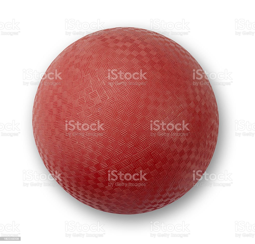 Playground Ball Red stock photo