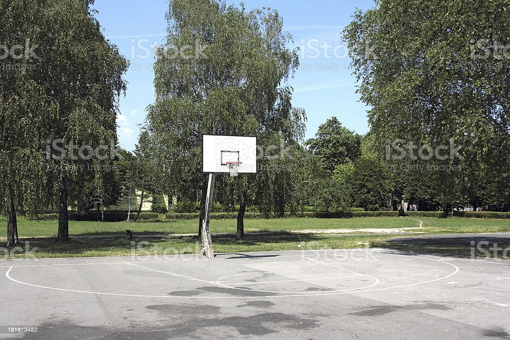 Playground basketball stock photo