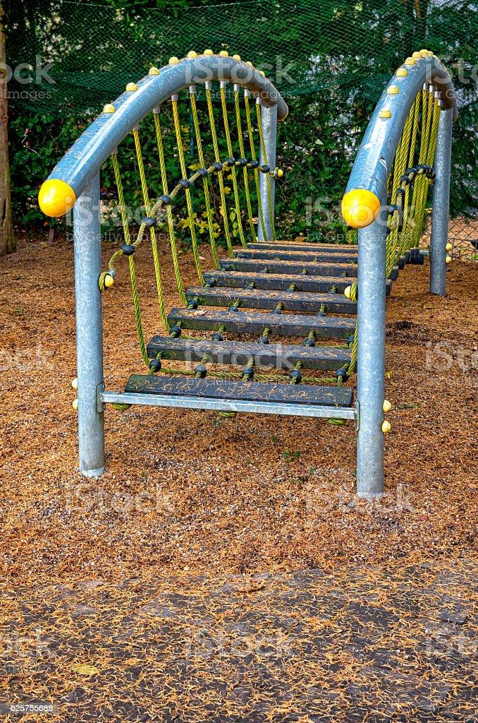 Playground bridge royalty-free stock photo