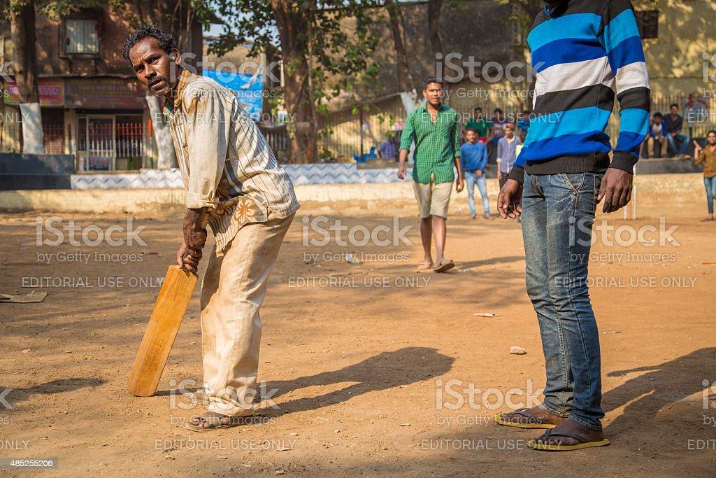 Playground cricket stock photo