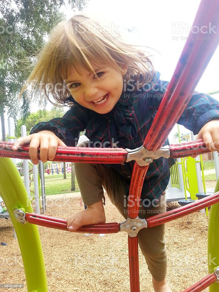 Playground daredevil stock photo