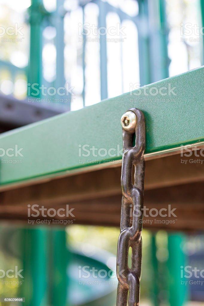 Playground Equipment Close Up stock photo
