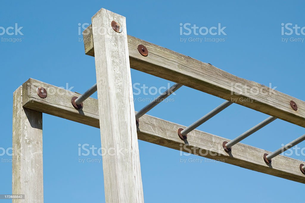 Playground Equipment Overhead Ladder royalty-free stock photo