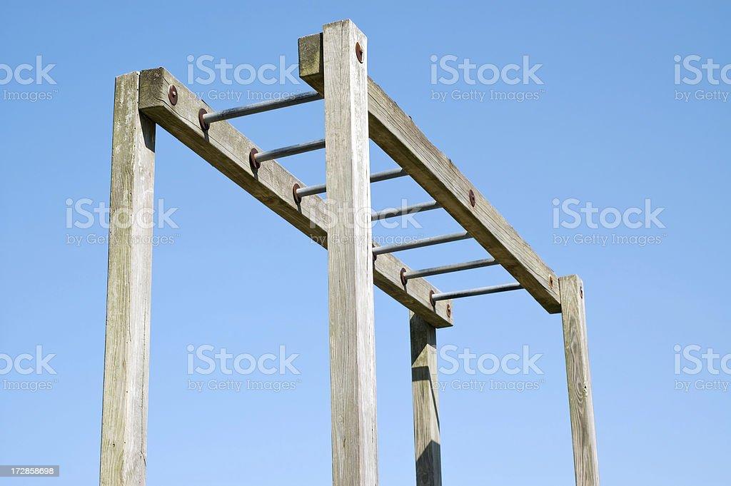 Playground Equipment Overhead Ladder royalty-free stock photo