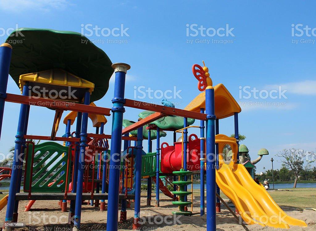 playground for kids stock photo