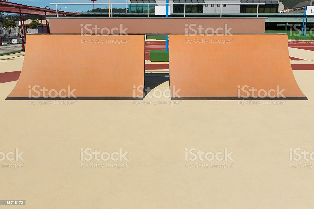 playground for skateboard stock photo