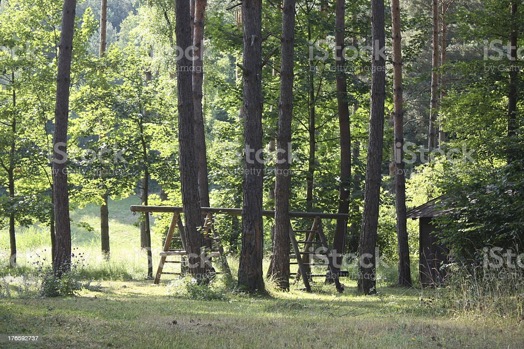 playground, forest royalty-free stock photo