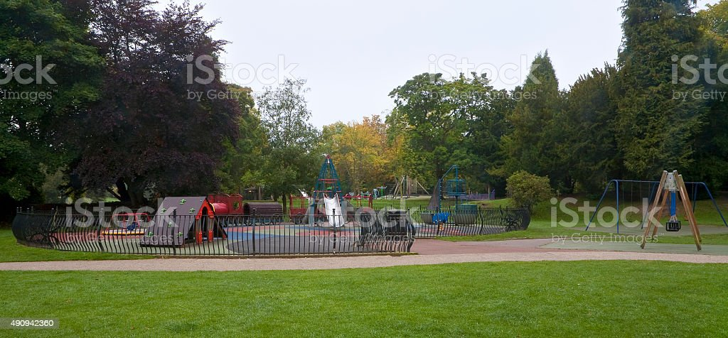 Playground in Formal Park stock photo