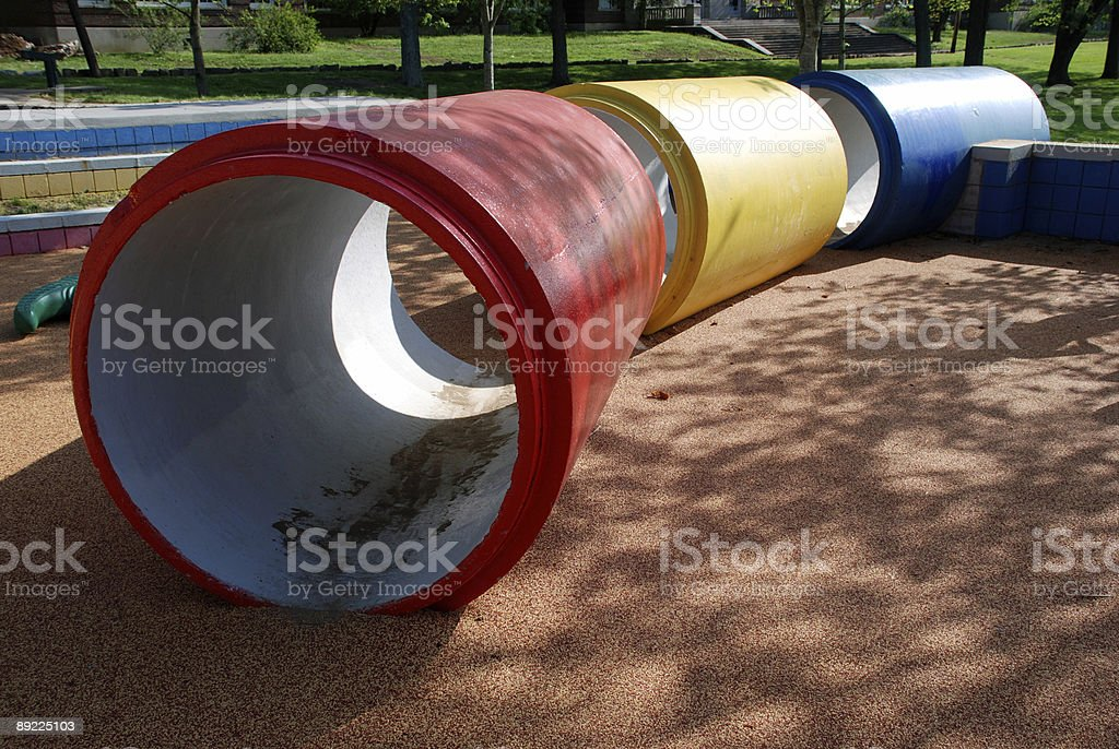 Playground Pipes royalty-free stock photo