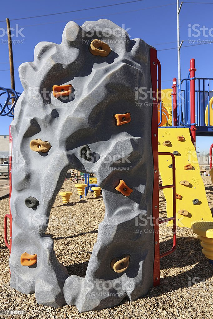 Playground Rock wall stock photo