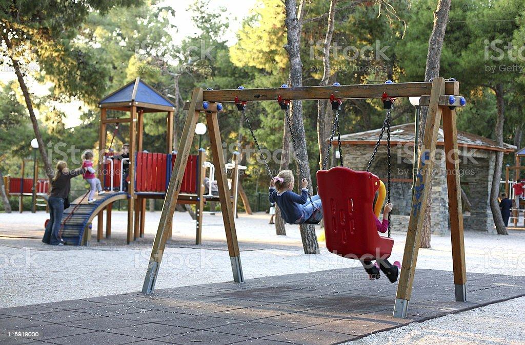Playground scene stock photo
