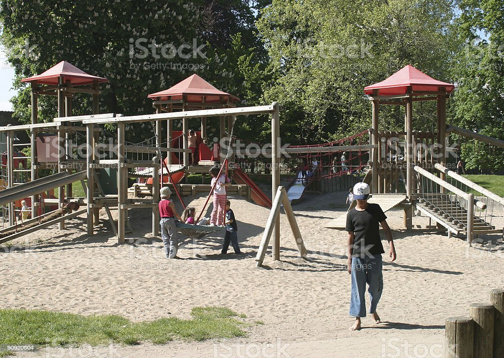 playground scenery stock photo