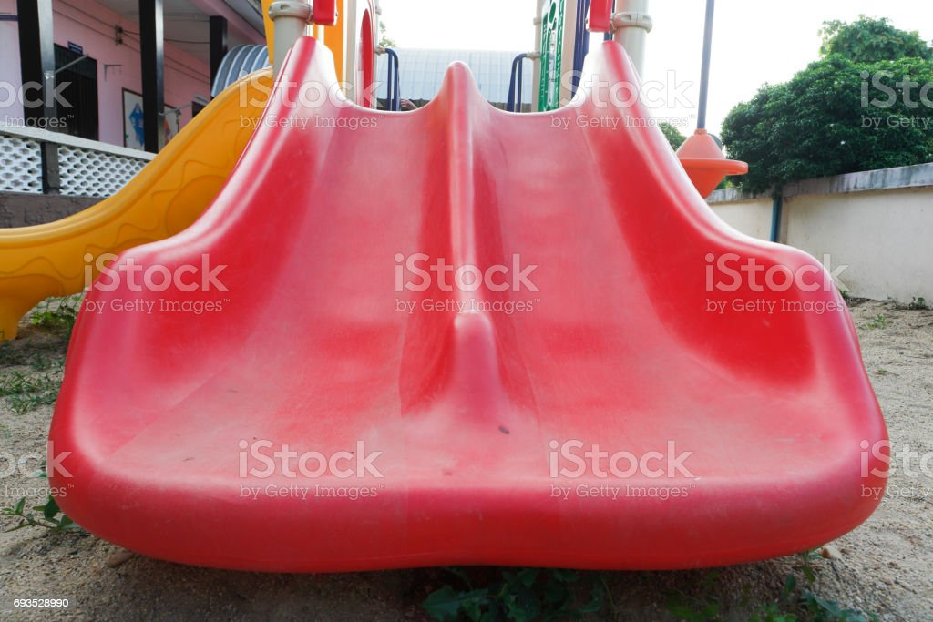 Playground Slider for kids. stock photo