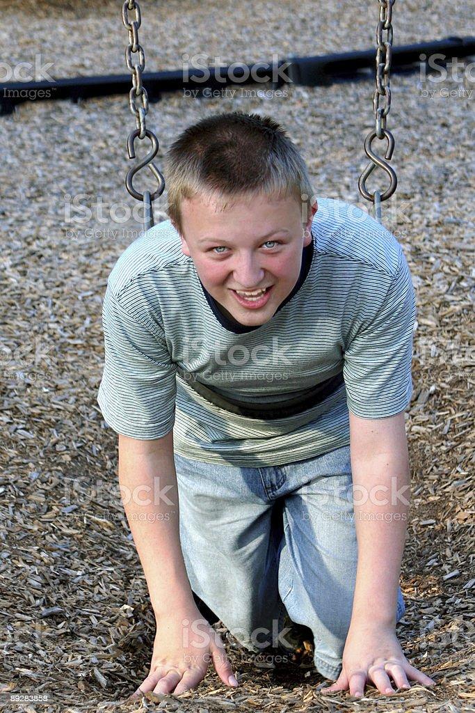 Playground Teen Fourteen stock photo
