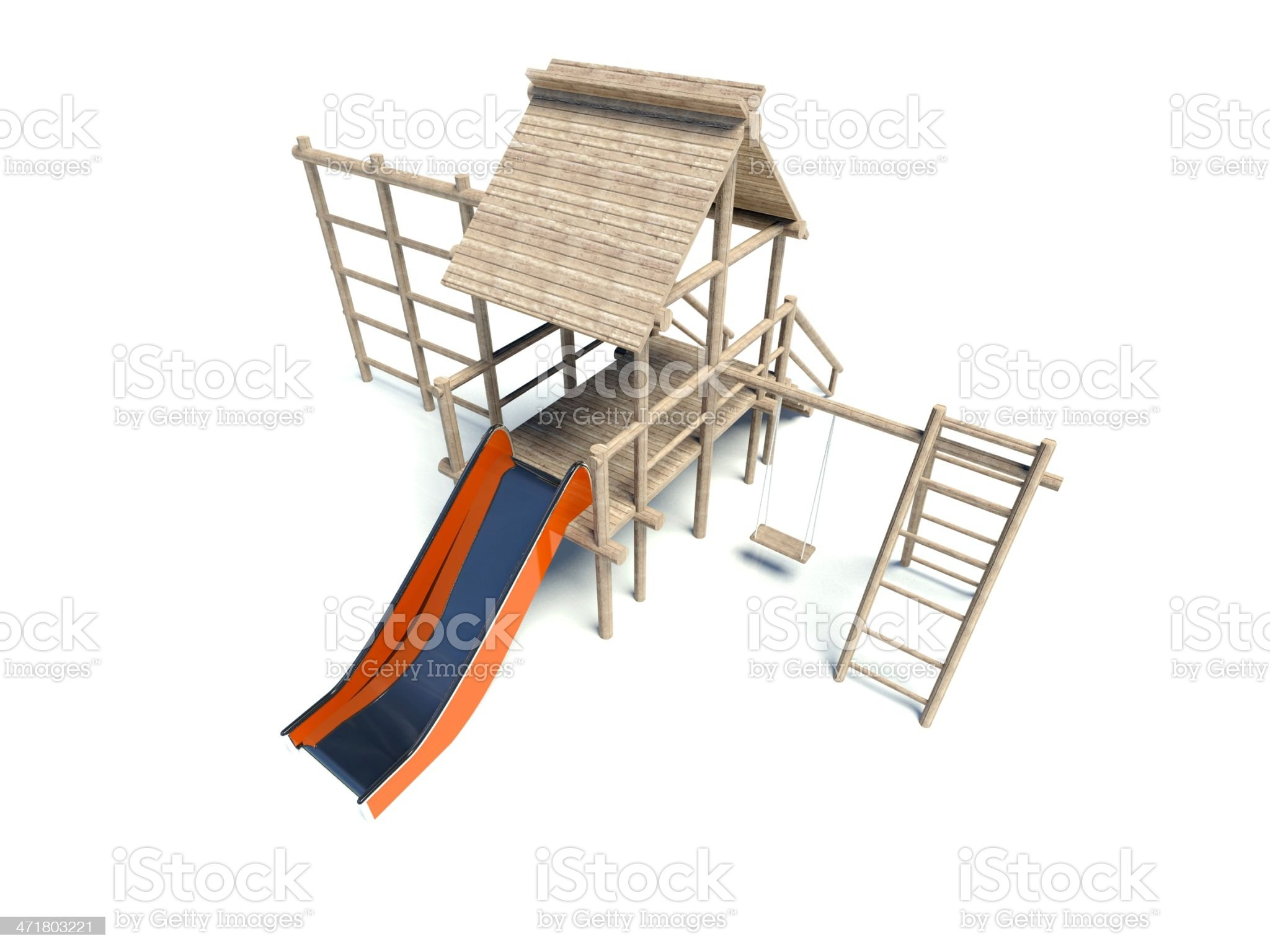Playground without children, isolated on white royalty-free stock vector art