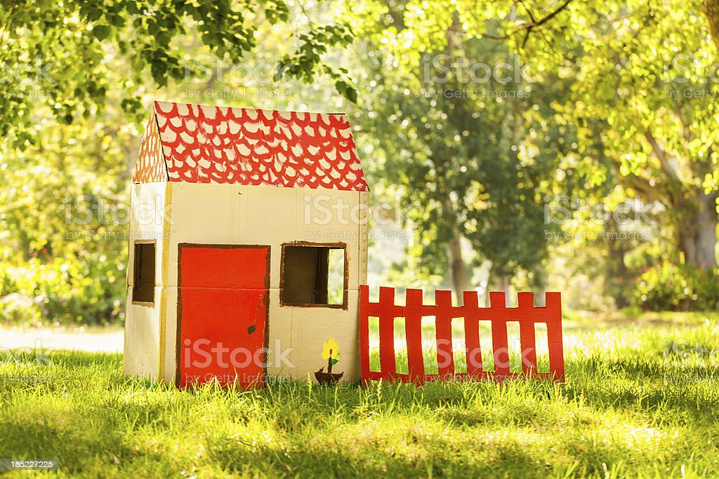 Playhouse in park stock photo