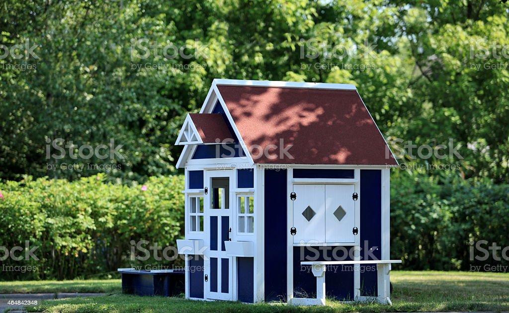 playhouse in the garden stock photo