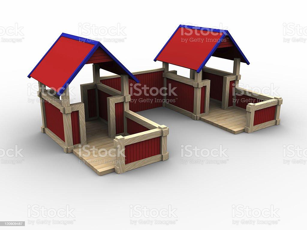 Playhouse Village royalty-free stock photo