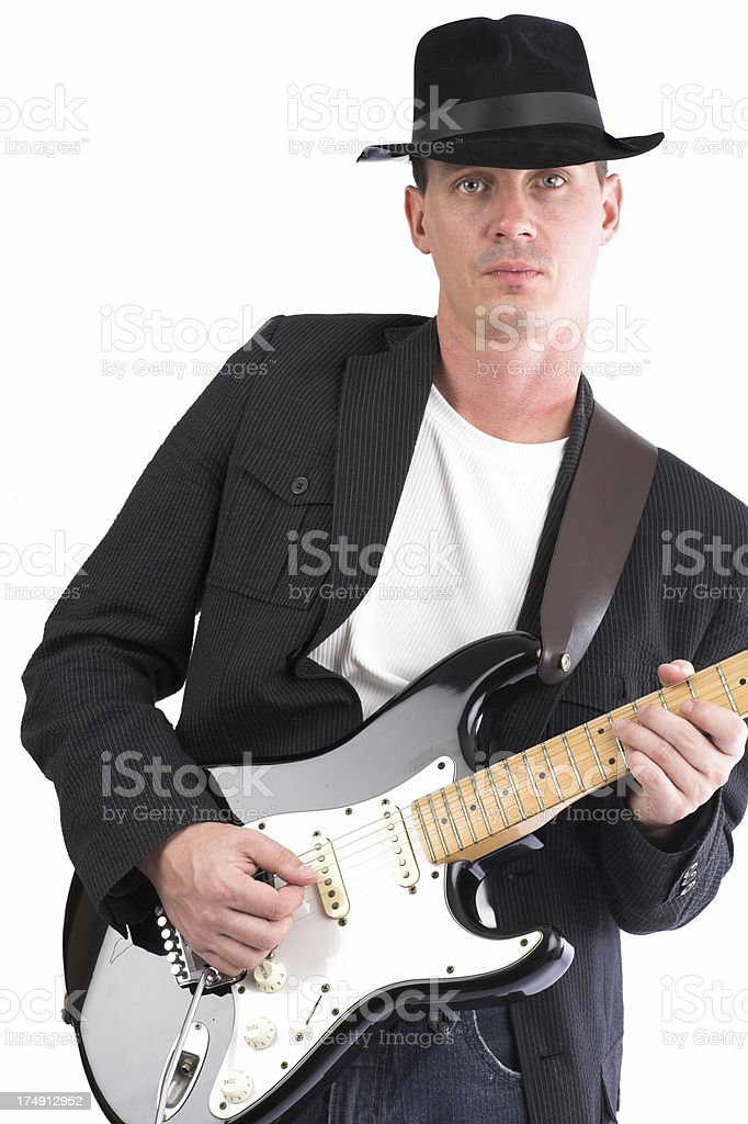 playin the blues stock photo