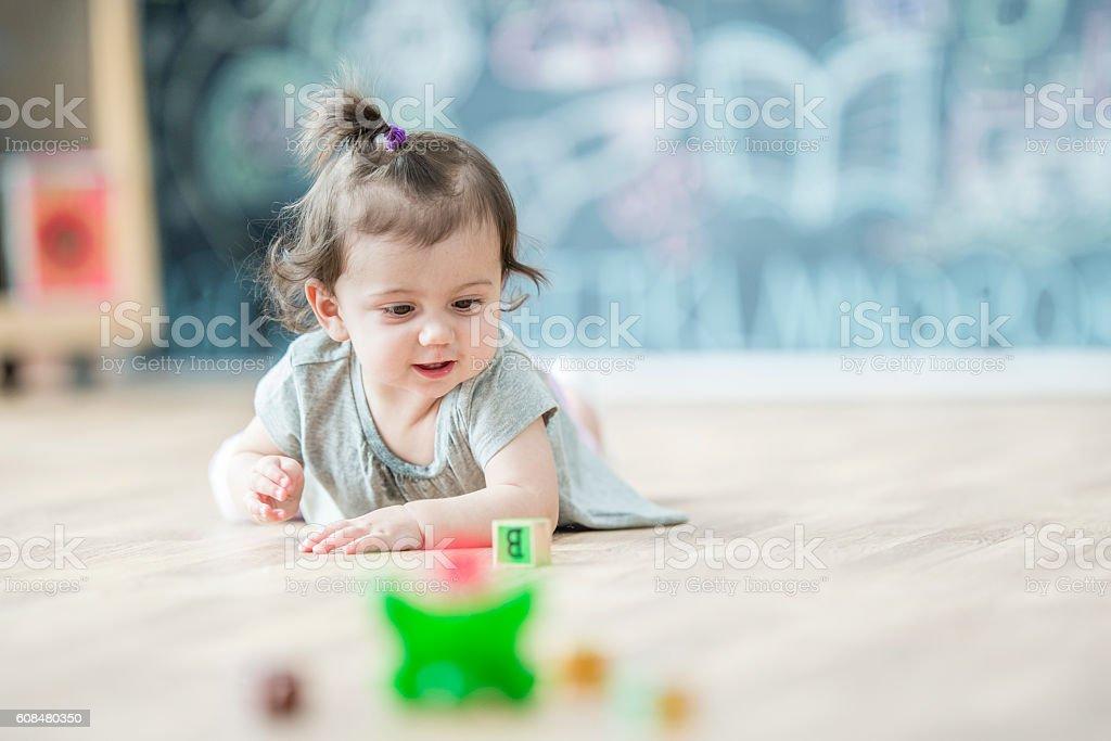 Playing Alone stock photo