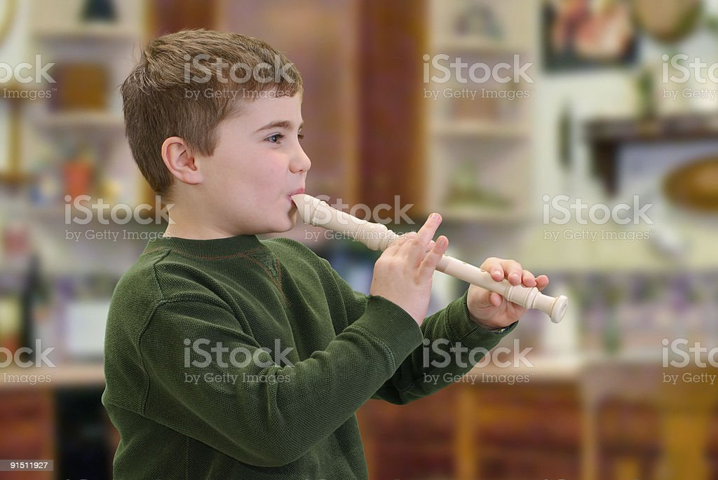 Playing an Instrument stock photo