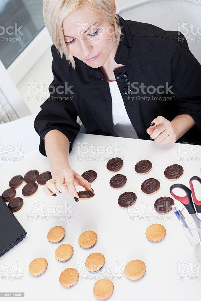 Playing anti-diet game royalty-free stock photo