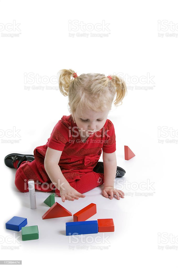 playing at building royalty-free stock photo