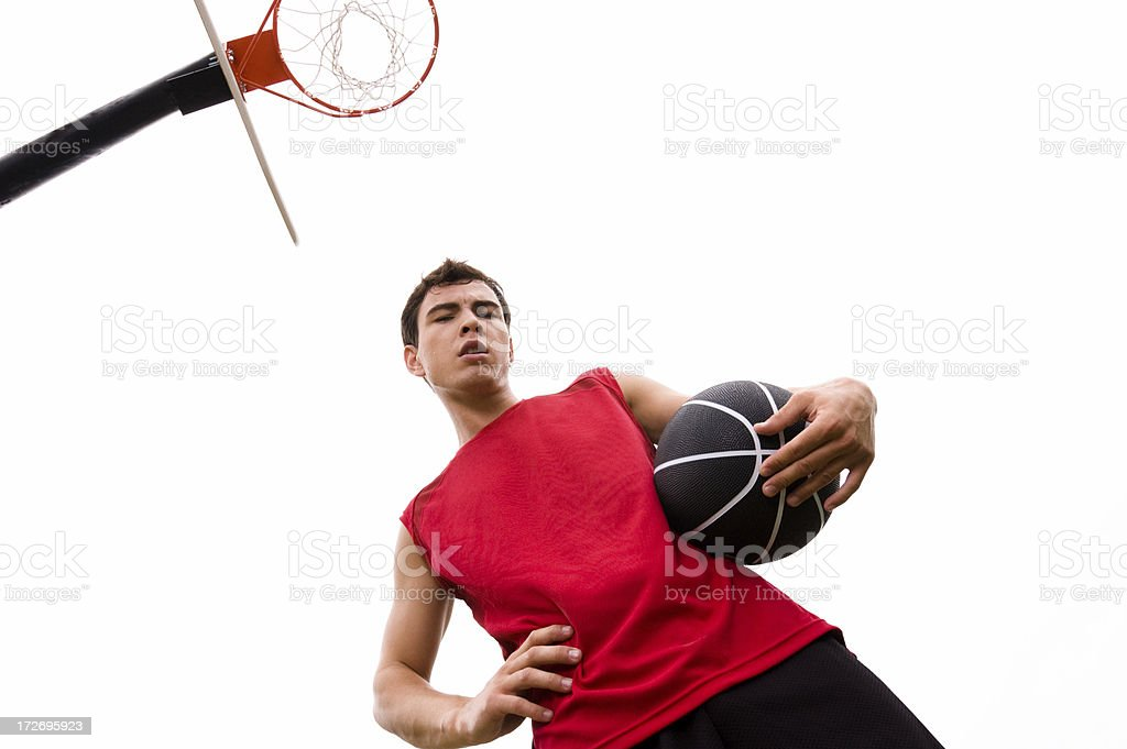 playing basketball royalty-free stock photo