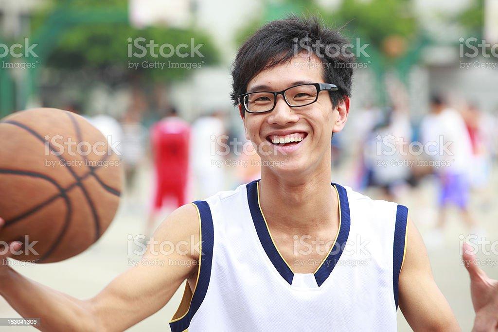 playing basketball royalty-free stock photo