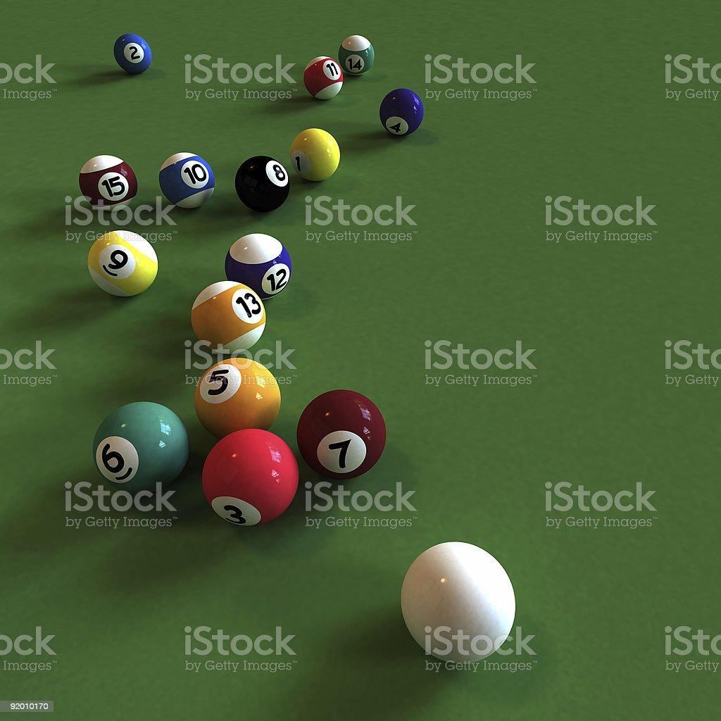 Playing billiards royalty-free stock photo
