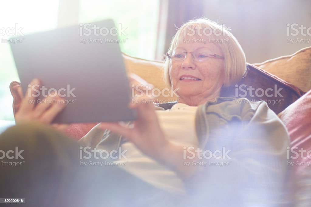 playing bingo online stock photo