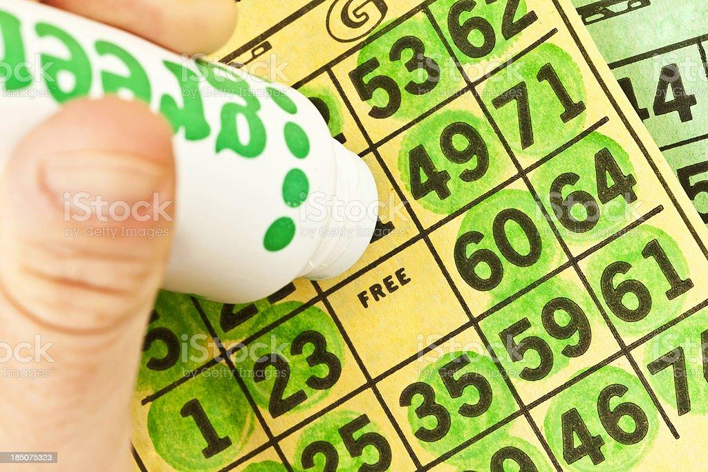 Playing Bingo stock photo