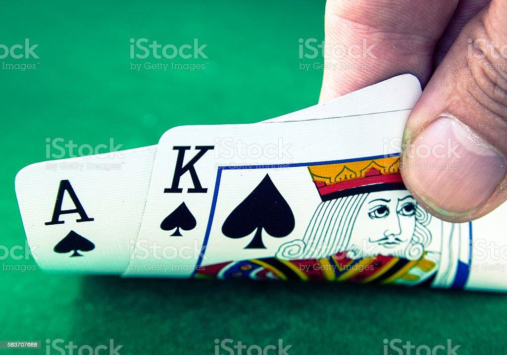 Playing Blackjack stock photo