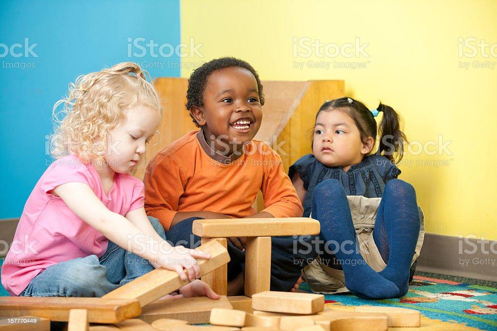 Playing blocks royalty-free stock photo