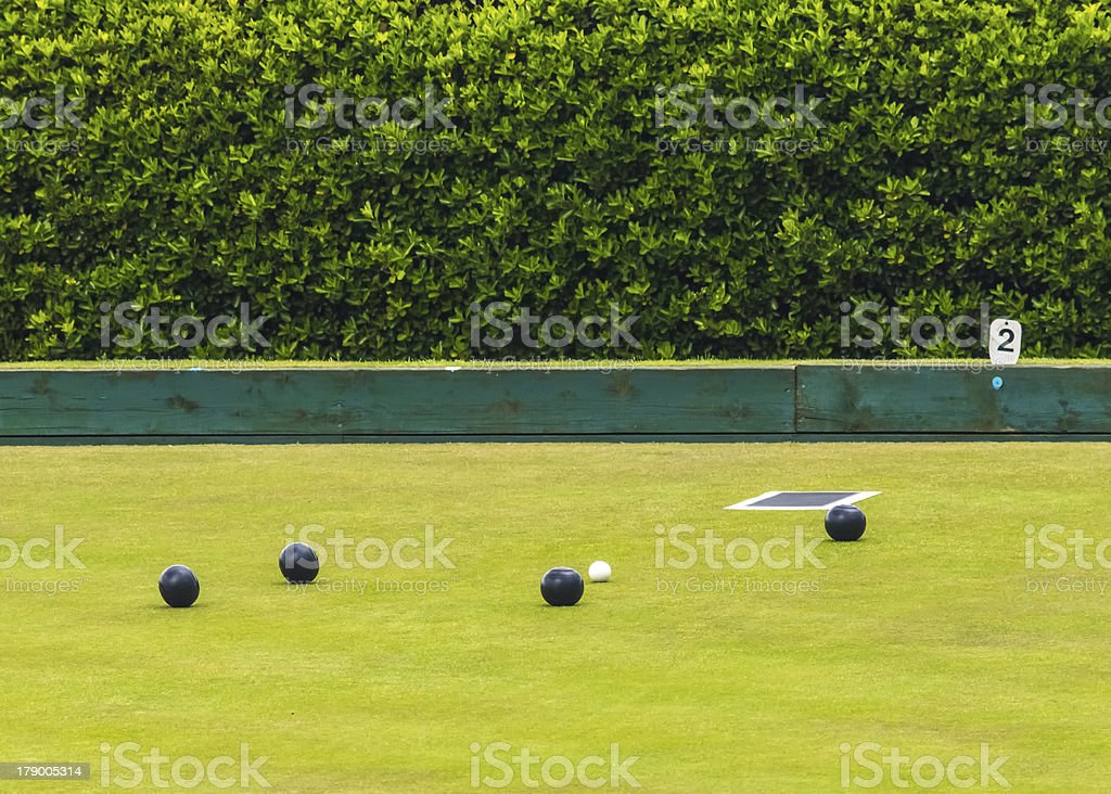 Playing Bowls  Bowling With Copy Space stock photo