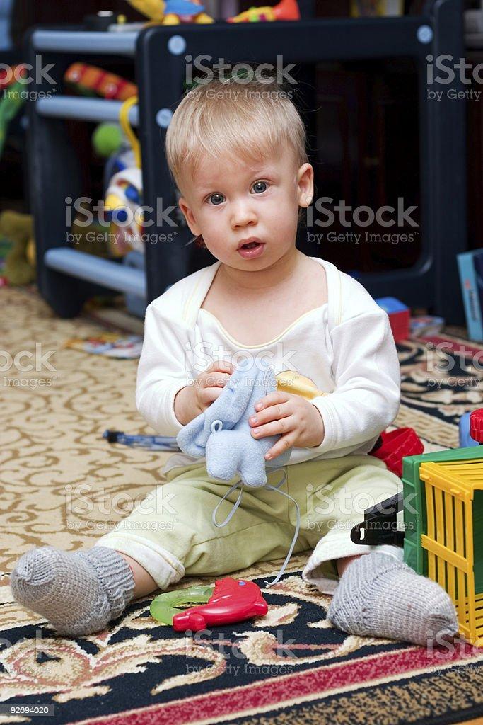 playing boy royalty-free stock photo