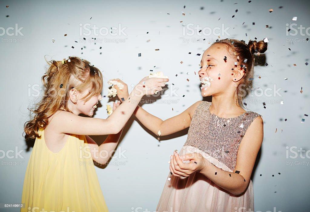 Playing cake stock photo