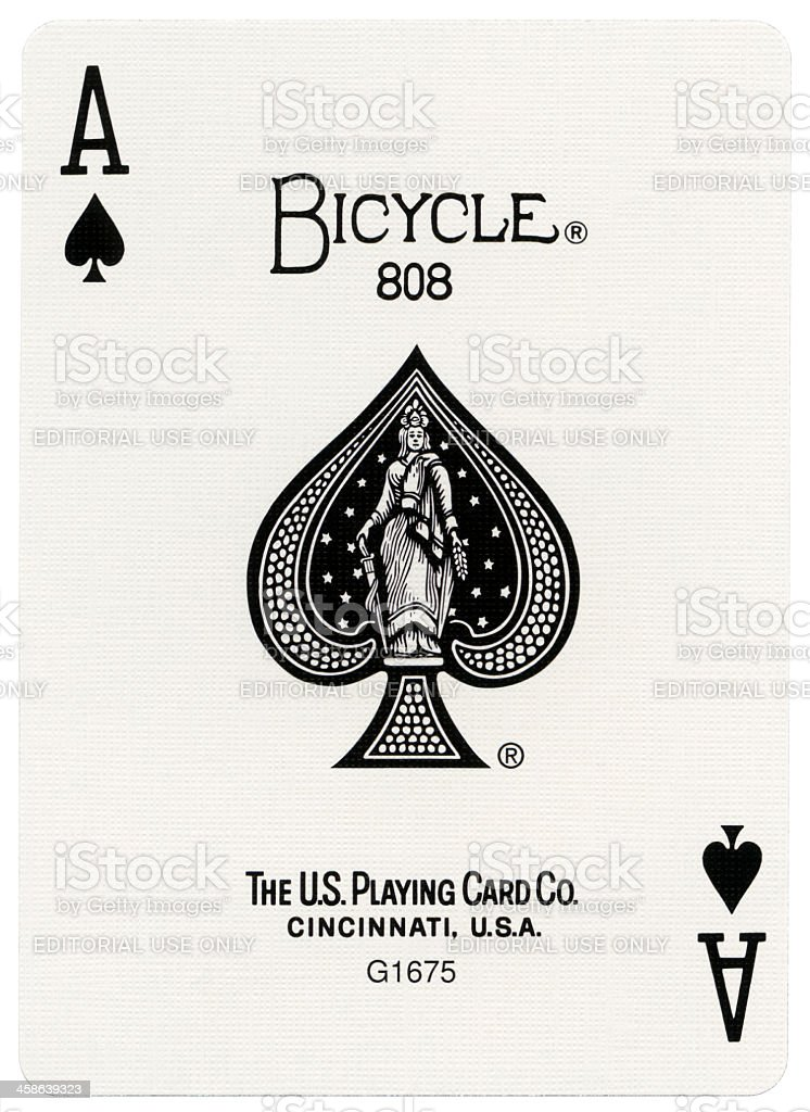 Playing Card - Ace of Spades XXXXL stock photo