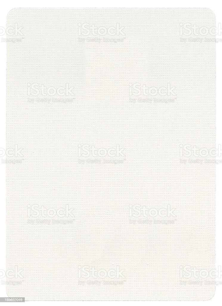 Playing Card - Blank royalty-free stock photo