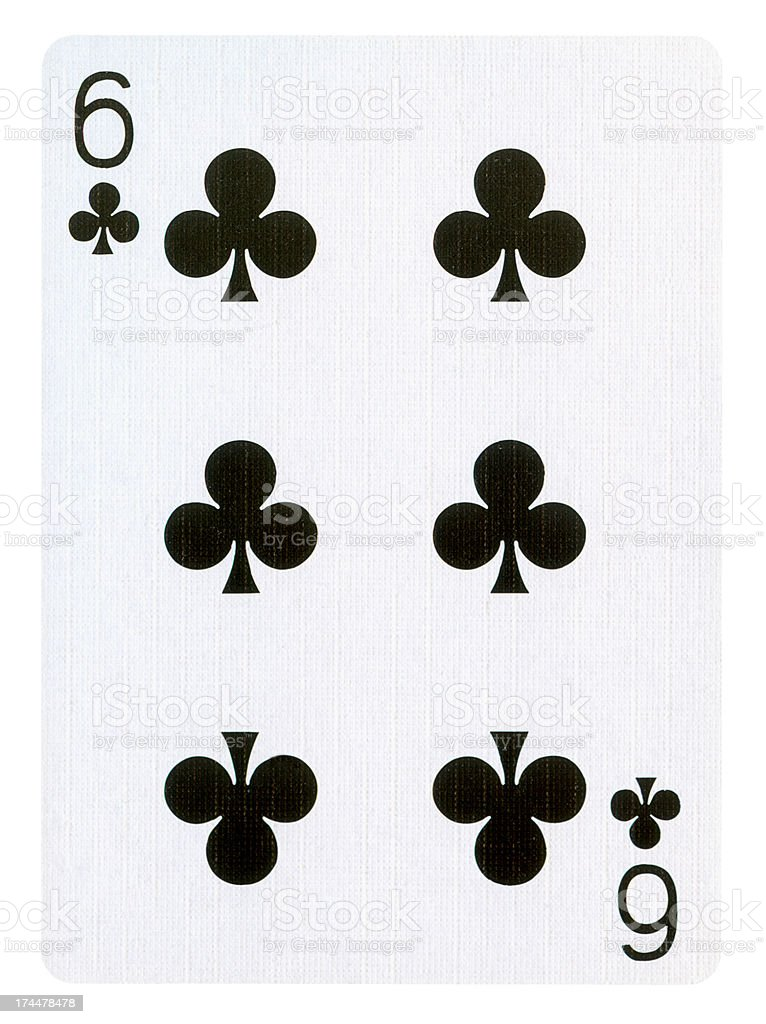 Playing card Isolated (clipping path) royalty-free stock photo