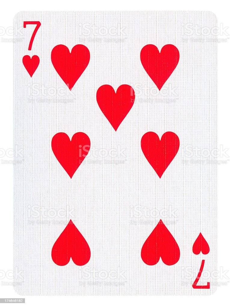 Playing card Isolated (clipping path) stock photo
