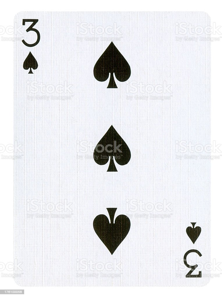 Playing card Isolated (clipping path included) royalty-free stock photo